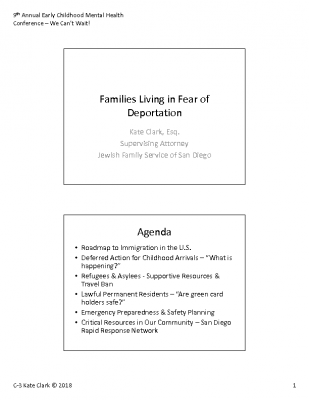 C-3_Kate Clark_ Families Living in Fear of Deportation_PPT Handout