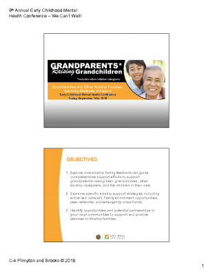 C-4_Plimpton and Brooks_Grandparents Raising Grandparents_PPt Handout