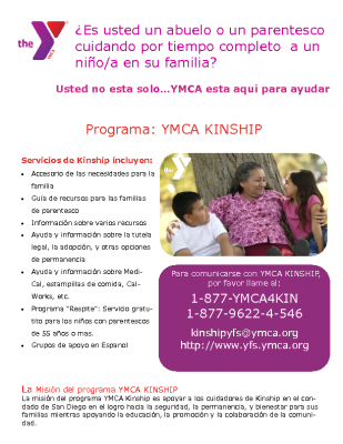 C-4_Plimpton and Brooks_Handout_YMCA Kinship Support Flyer_Spanish