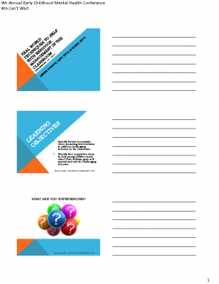 E-2 and F-2_D VonRotz_Real World Techniques_Behavioral Mgmt in the Preschool Classroom_PPT Handout