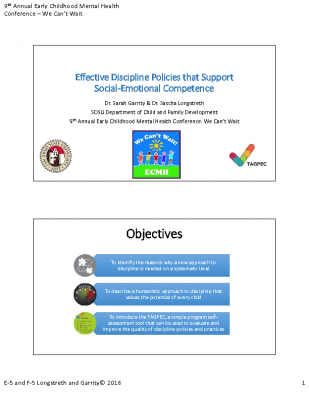 E-5 and F-5_Lonstretch and Garrity_Effective Discipline Policies_PPT Handout