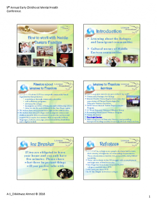 A-1_Ahmed, Dilkhwaz_How to Work with Middle Eastren Families_PPT Handout