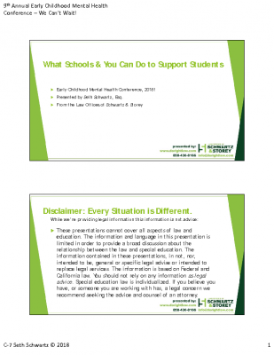 C-7_Seth Schwartz_What Schoold Can Do to Support SpecialEd_PPT Handout